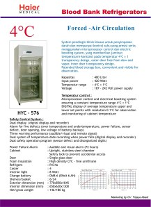 Blood Bank Refrigerator baru