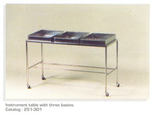 Instrument-table-with-three-basins
