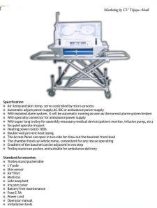 Transport Incubator (TI 2000)
