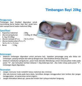 Timbangan bayi 20 Kg